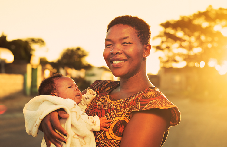 A mother and baby from an Ubuntu project