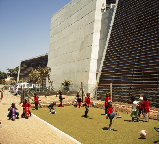 Children playing as part of Ubuntu's Early Childhood Development