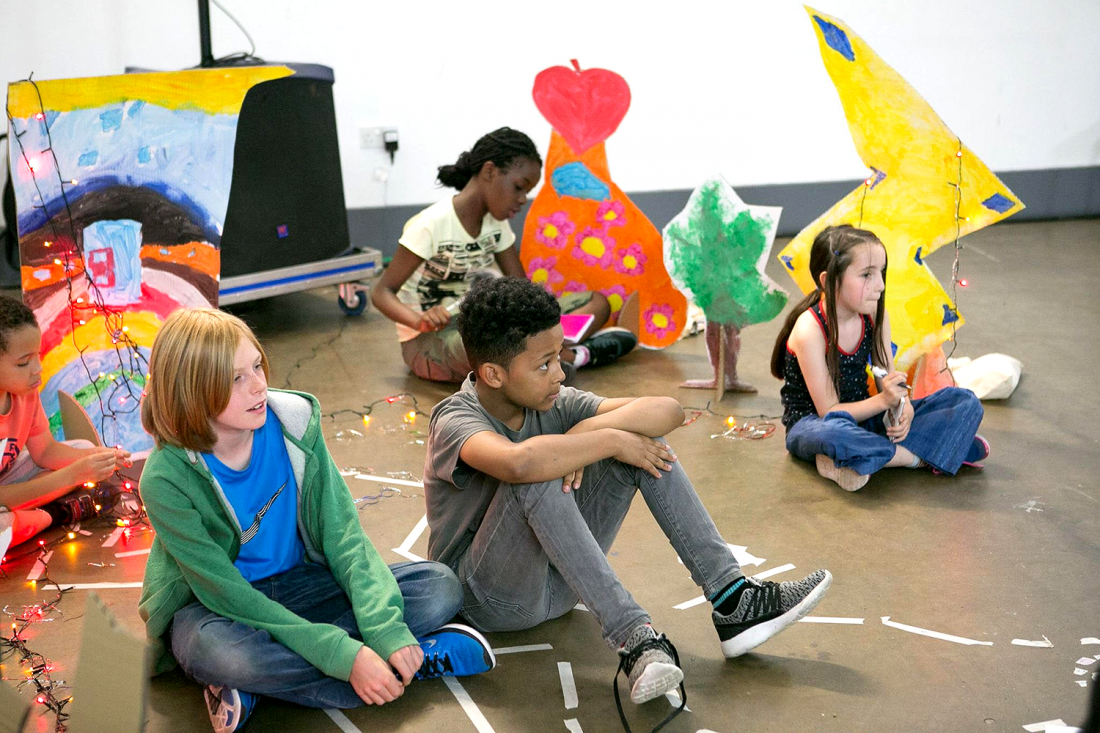Children taking part in a Futureheads creative workshop